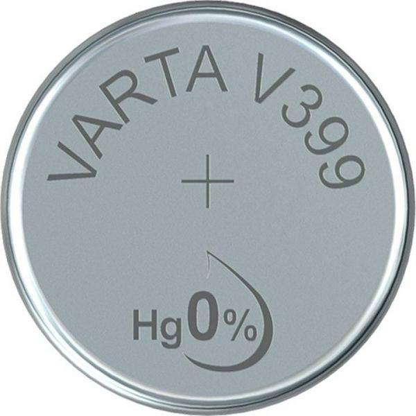Silberoxid-Knopfzelle Typ SR67 / V399 von Varta
